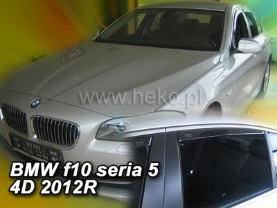 Deflektory Heko - BMW 5, F10 Sedan od r.2010 (so zadnými)