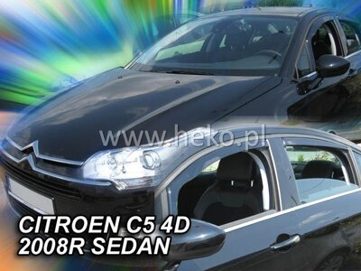 Deflektory Heko - Citroen C5 Sedan, od r.2008 (so zadnými)