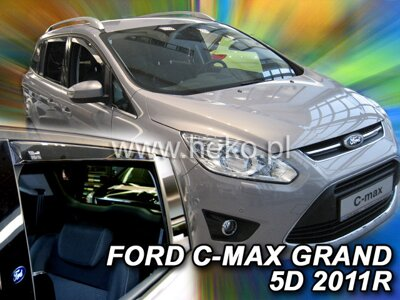 Deflektory Heko - Ford Grand C-Max, od r.2011 (so zadnými)