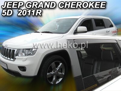 Deflektory Heko - Jeep Grand Cherokee, od r.2011 (so zadnými)