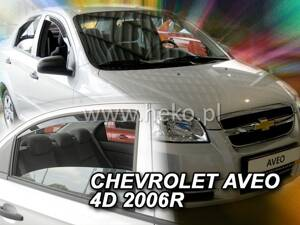 Deflektory Heko - Chevrolet Aveo, Sedan od r.2007 (so zadnými)