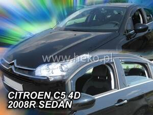 Deflektory Heko - Citroen C5 Sedan od 2008 (so zadnými)