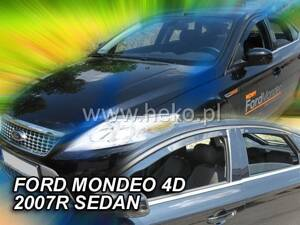 Deflektory Heko - Ford Mondeo, Sedan od r.2007 (so zadnými)
